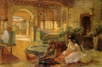 unknow artist Arab or Arabic people and life. Orientalism oil paintings  334